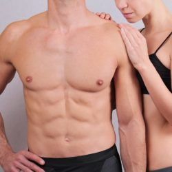 Collage set Fit, fitness couple. Wax hair removal for men and woman. Waxing treatment.